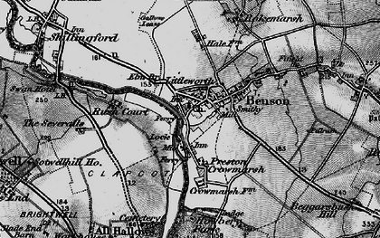 Old map of Benson in 1895