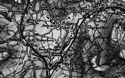 Old map of Bent Gate in 1896
