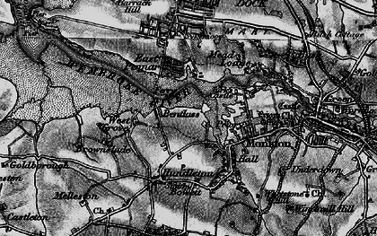 Old map of Bentlass in 1898