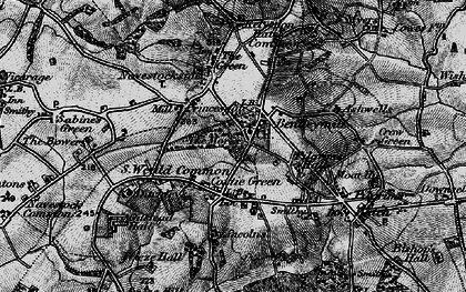 Old map of Ashwells in 1896