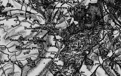 Old map of Wigston Hill in 1899