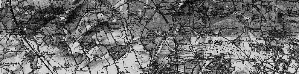 Old map of Wrotham Park in 1896