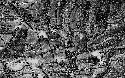 Old map of West Yarde in 1898