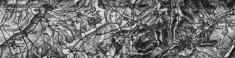 Old map of Bentworth in 1895