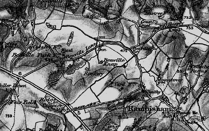 Old map of Yard Dairy in 1898
