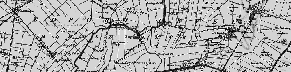 Old map of Lilly Holt in 1898