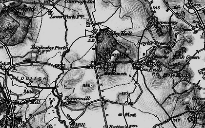 Old map of Beoley in 1898