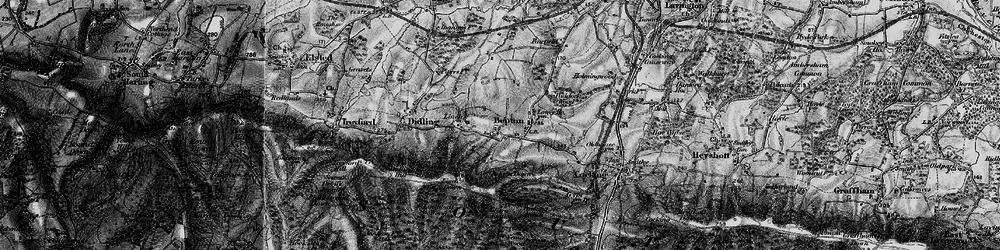 Old map of Bepton in 1895