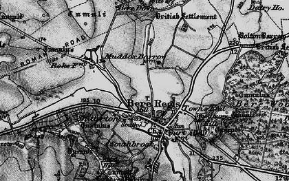 Old map of Bere Regis in 1898