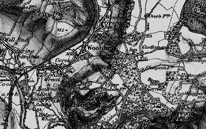 Old map of Berghers Hill in 1896