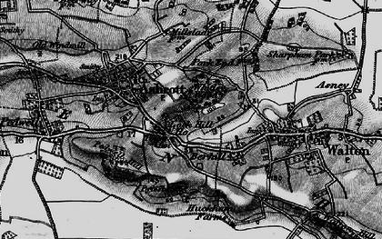 Old map of Berhill in 1898