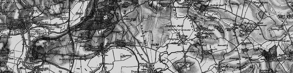 Old map of Berinsfield in 1895