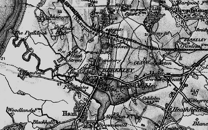 Old map of Wickselm in 1897