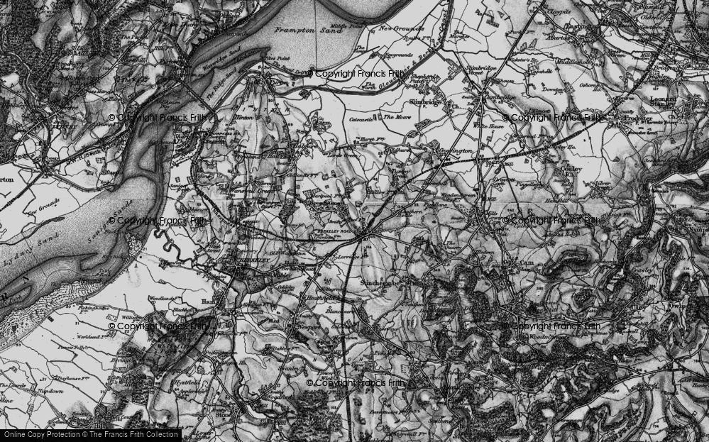 Old Map of Berkeley Road, 1897 in 1897