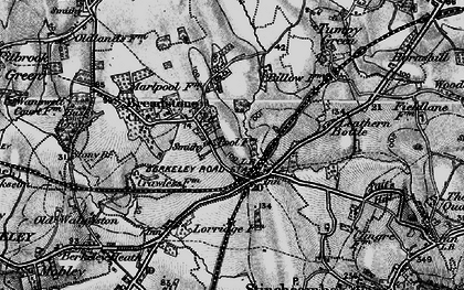 Old map of Berkeley Road in 1897