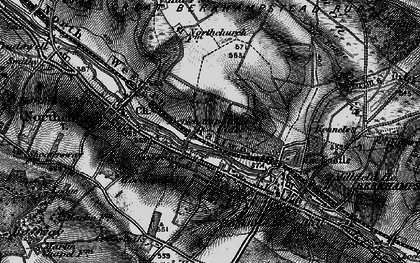 Old map of Berkhamsted in 1896