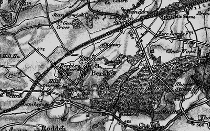 Old map of Woodman's Hill in 1898