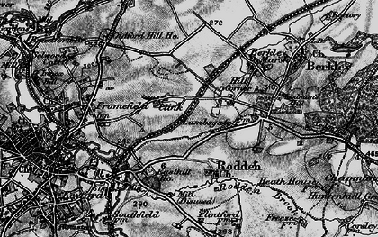 Old map of Berkley Down in 1898