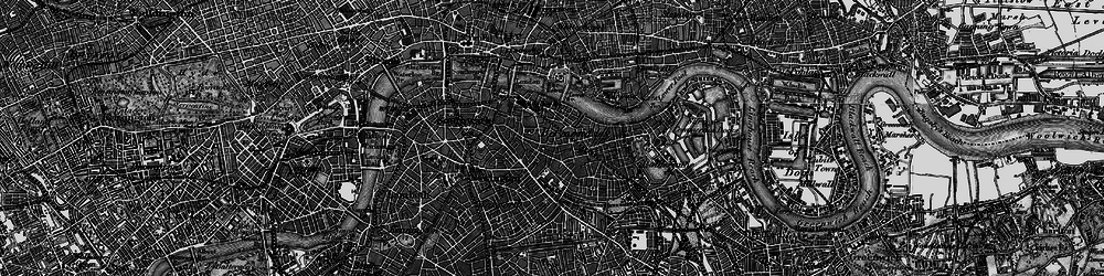 Old map of Bermondsey in 1896