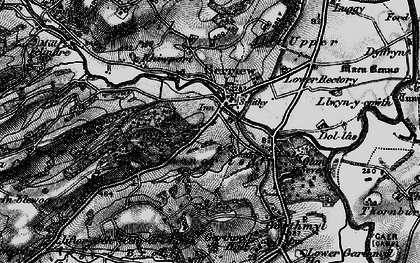 Old map of Berriew in 1899