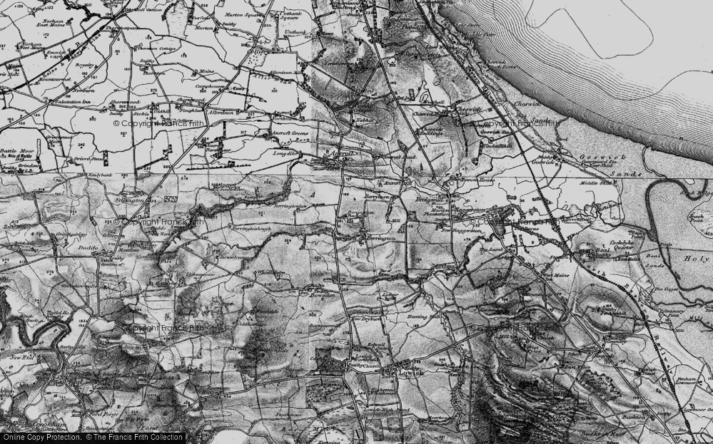 Old Map of Historic Map covering Lickar Dean in 1897