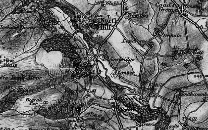 Old map of Berriowbridge in 1895