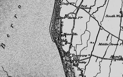 Old map of Berrow in 1898