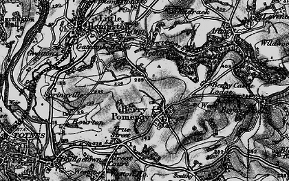 Old map of Berry Pomeroy in 1898