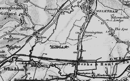 Old map of Berryfield in 1898