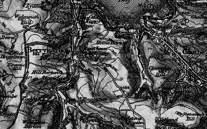Old map of Berrynarbor in 1898