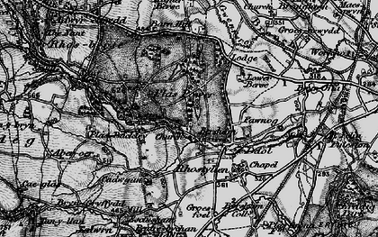 Old map of Bersham in 1897