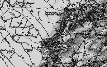 Old map of Berwick in 1898