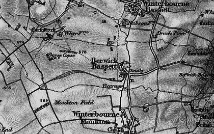 Old map of Berwick Bassett in 1898