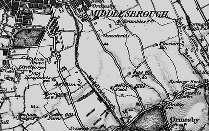 Old map of Berwick Hills in 1898