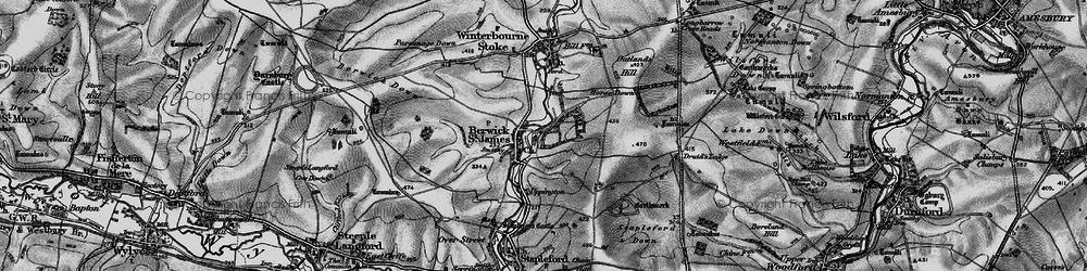 Old map of Berwick St James in 1898