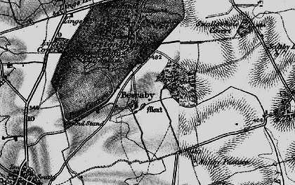 Old map of Bescaby in 1899