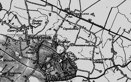Old map of Bescar in 1896