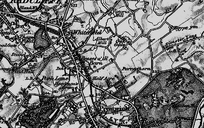 Old map of Besses o' th' Barn in 1896