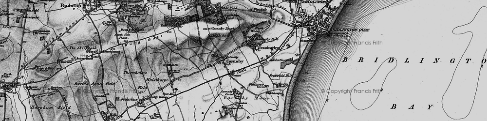 Old map of Bessingby in 1897