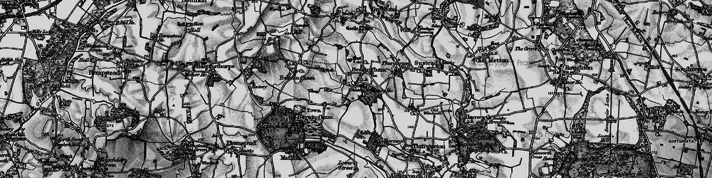 Old map of Aldborough Hall in 1899