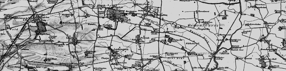 Old map of Wilfholme in 1898