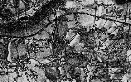 Old map of Wildecroft in 1896