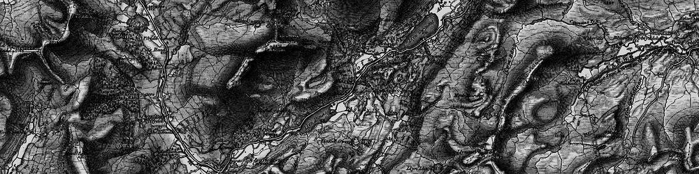 Old map of Afon Gorsen in 1899