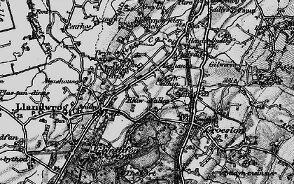 Old map of Afon Llifon in 1899