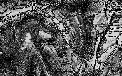 Old map of Bettws in 1896