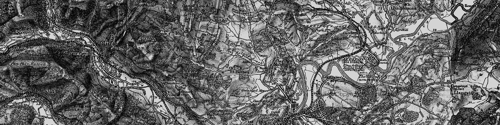 Old map of Bettws in 1897
