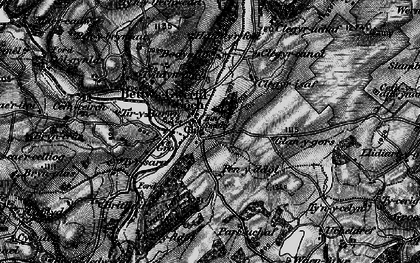 Old map of Bryn-Crâs in 1897