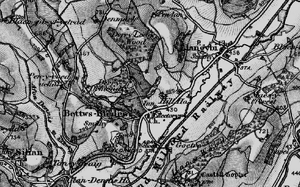 Old map of Betws Bledrws in 1898
