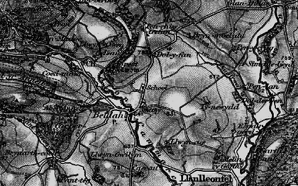 Old map of Aberannell in 1898