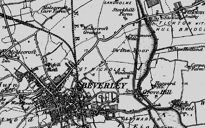 Old map of Beverley in 1898